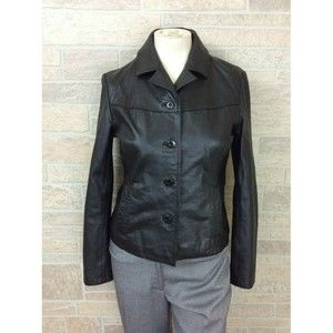 Wilson Leather Jacket Size Small Black Thinsulate